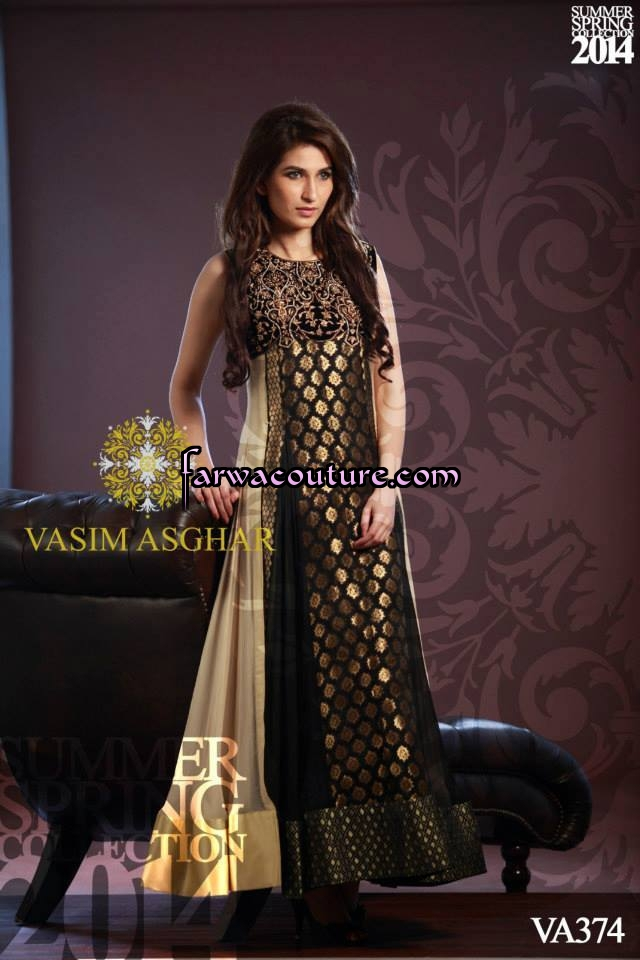 Fashion pakistani designer maxi dress collection